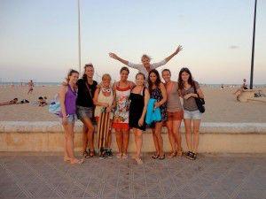 foto de grupo playa Valencia