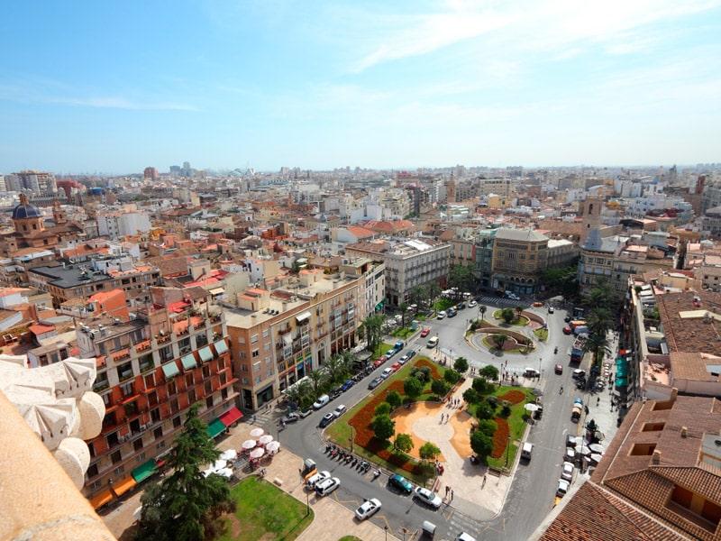 Valence vue d'en haut