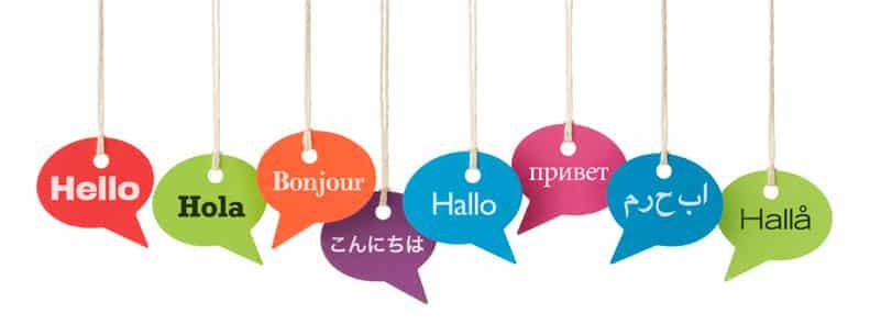 Bulles en suspention et bonjour en 8 langues – Expression idiomatique