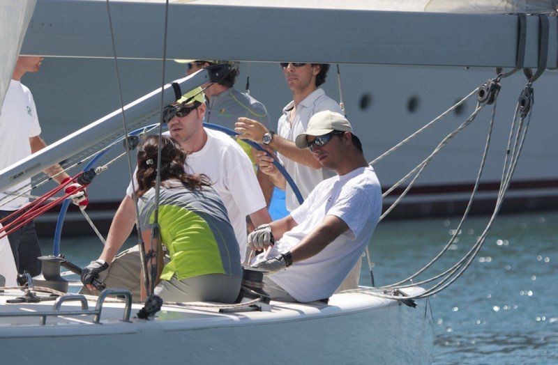 sailing course on the sea with professional